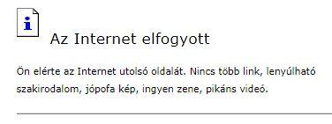 Az internet elfogyott